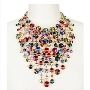 New Multicolor Strand Statement Necklace